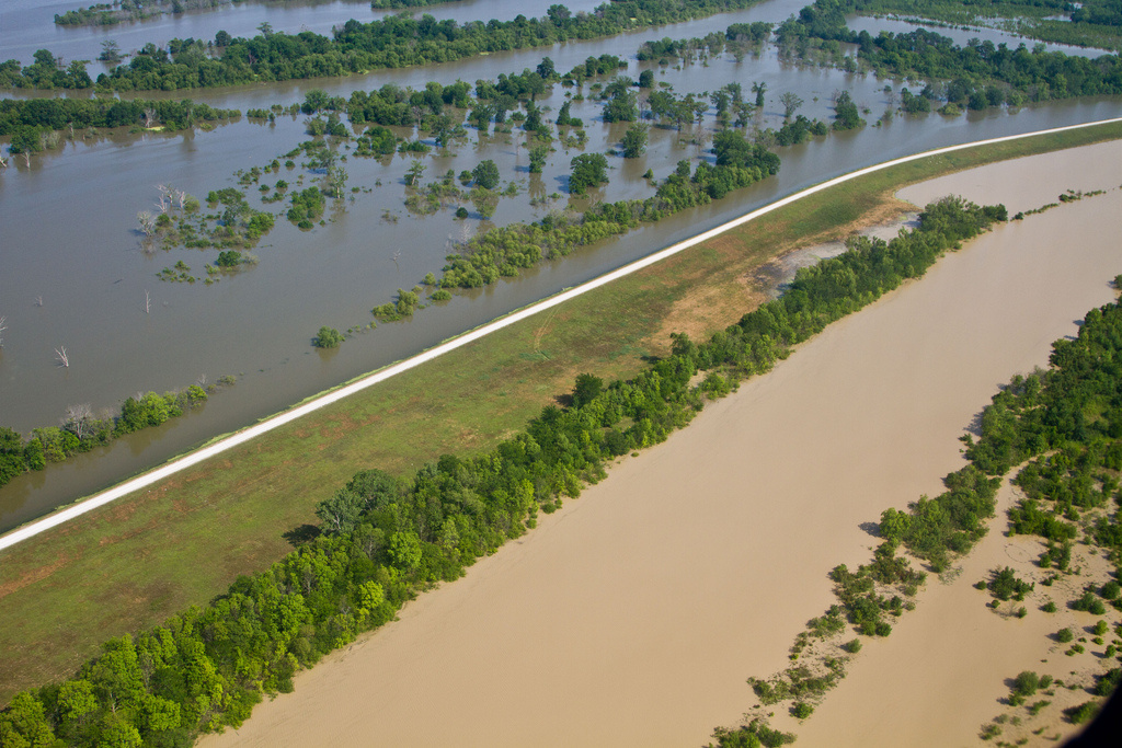 Understanding a river's volume can help government protect better against flood, and prepare for it. A view of the Mississippi River in flood, May 2011.
