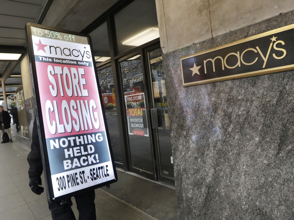 Macy's is cutting 2,000 jobs and closing about 125 stores, such as this one in Seattle, the company announced Tuesday.