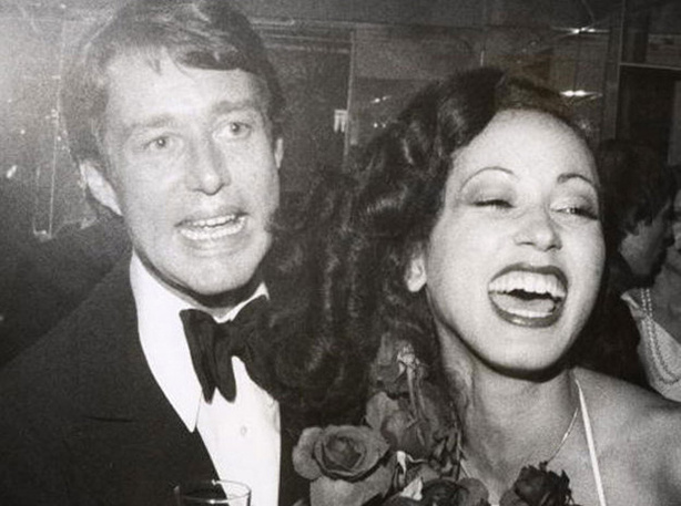Designer Roy Halston Frowick, known best by his middle name only, with model Pat Cleveland at a party following the Coty Awards in 1972. Halston frequently used Cleveland to showcase his fluid, body-hugging designs.