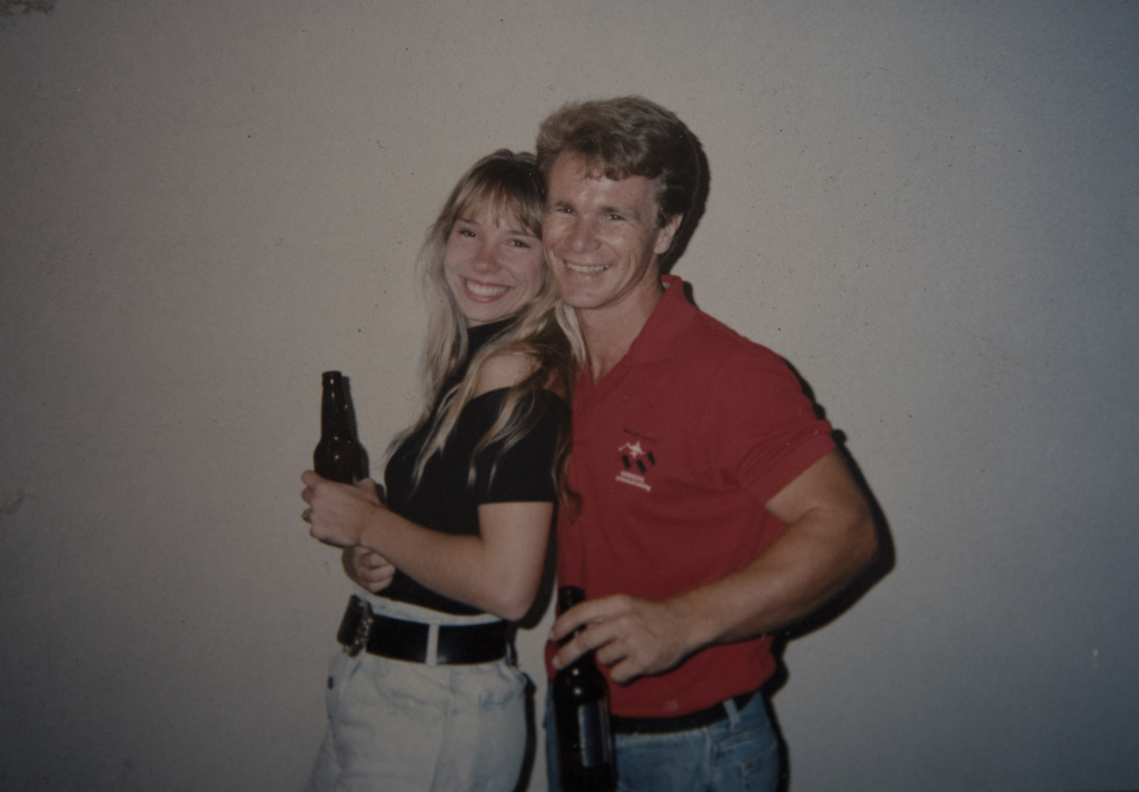 A photograph shows Bob and Lisa Patterson when they first met. Lisa Patterson was killed during the Oct. 1 attack in Las Vegas.