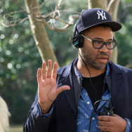 "Jordan Peele on the set of ""Get Out."""