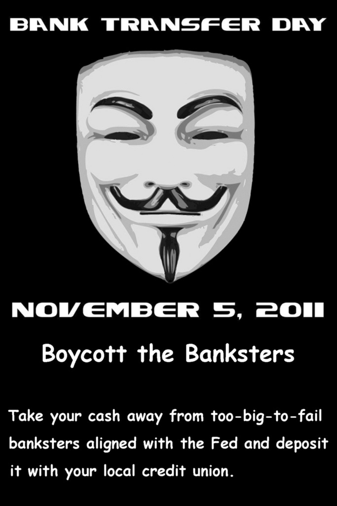 An Occupy Wall Street image for Bank Transfer Day.