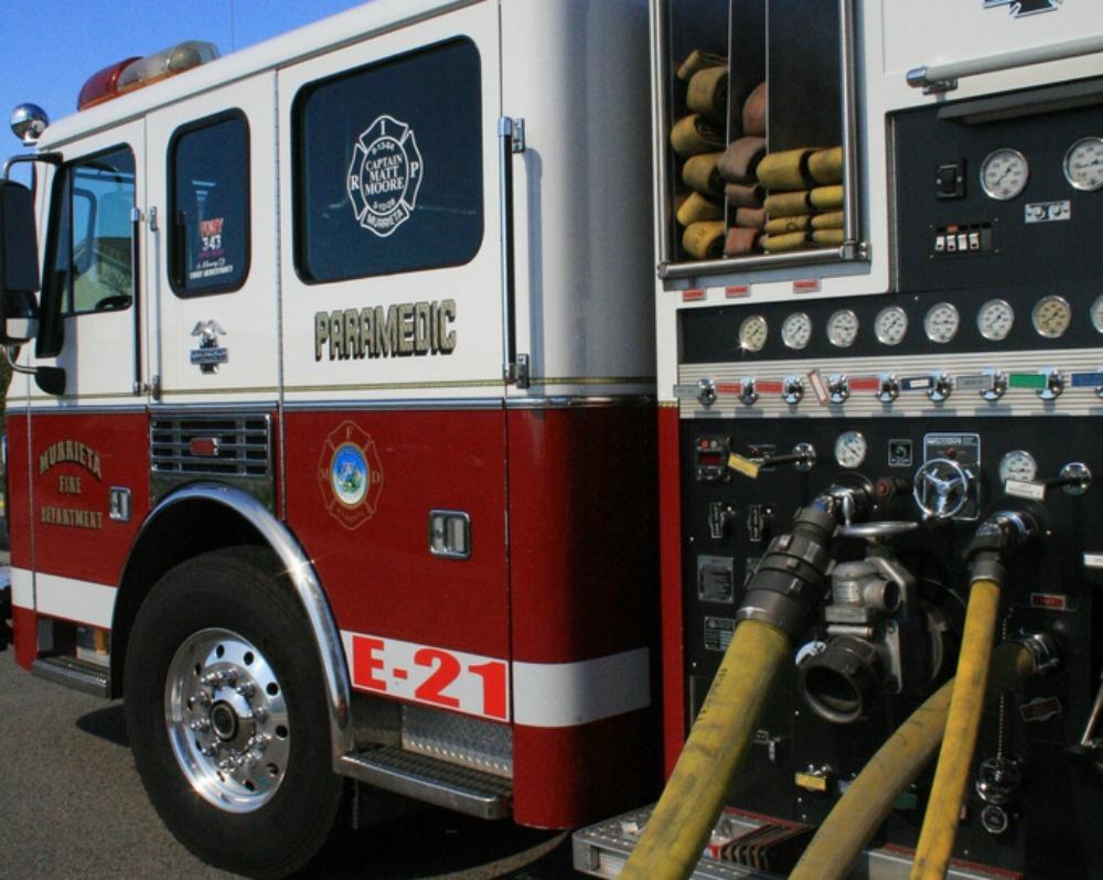 A Murrieta Fire Dept paramedic truck.