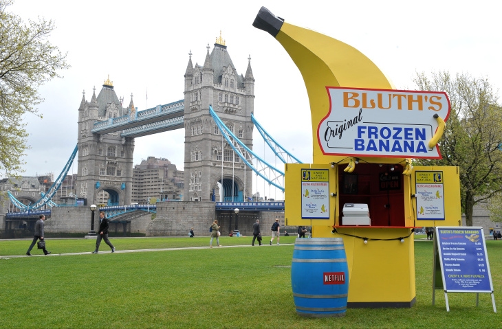 Arrested Development Bluth's Original Frozen Banana Stand reopens for business ahead of Arrested Development premiering on Netflix on May 26, 2013 - Potters Fields, London, United Kingdom.