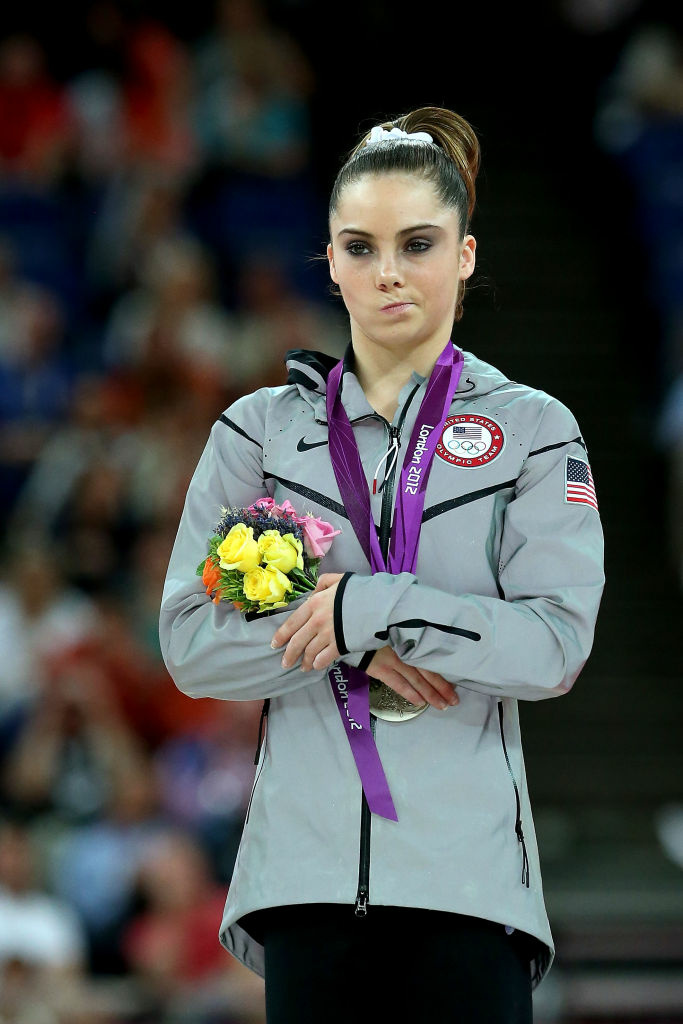 McKayla Maroney of the United States stands on the podium with her silver medal during the Artistic Gymnastics Women's Vault medal ceremony. Her gruff expression after coming in second inspired a blog called McKaylaIsNotImpressed.tumblr.com, a list of fictional pictures where Maroney is less than impressed with history's greatest achievements.