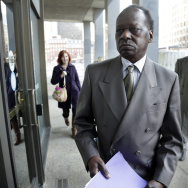 Onyango Obama, President Barack Obama's Kenyan-born uncle, arrives at U.S. Immigration Court for a deportation hearing on Tuesday in Boston.