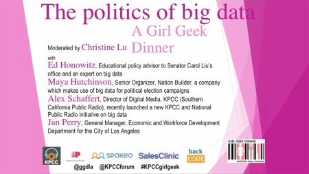 The politics of big data — a Girl Geek dinner