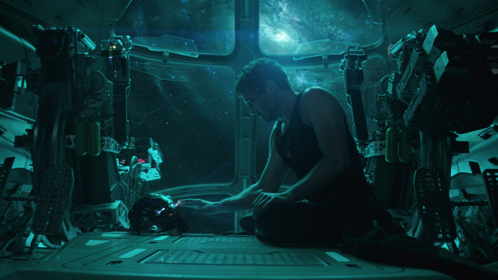 <em>I ... </em>was<em> Iron Man</em>: A stranded-in-space Tony Stark (Robert Downey Jr.) shares a somber moment with his suit's A.I.