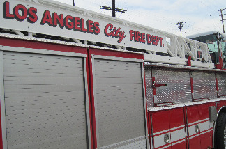 An LAFD paramedic vehicle is seen here at the Avenue 19 maintenance facility in downtown.