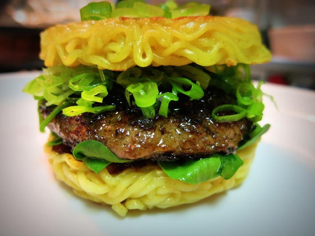 Kaizu Shimamoto's ramen burger.
