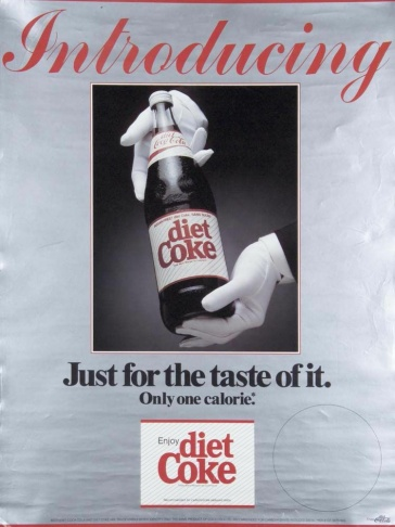 A Coca-Cola ad first introducing diet Coke in 1982.