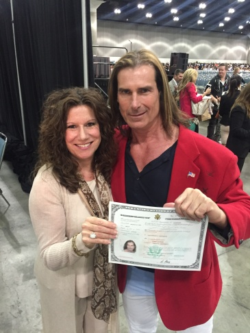 Male model Fabio gets sworn in as a U.S. citizen on Wednesday, March 16, 2016.