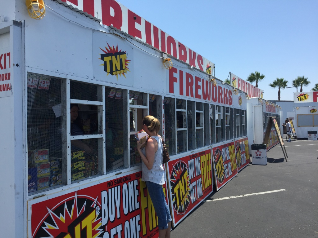 The TNT Fireworks location at the Honda Center is the largest in California with four stands, while the other on the corner of Brookhurst Street and Ball Avenue has two fireworks stands.