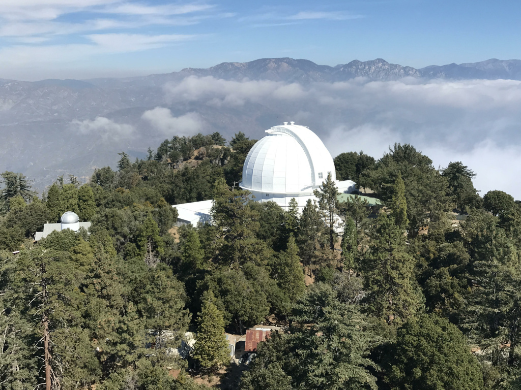 The Hooker Telescope Dome from a distance.
