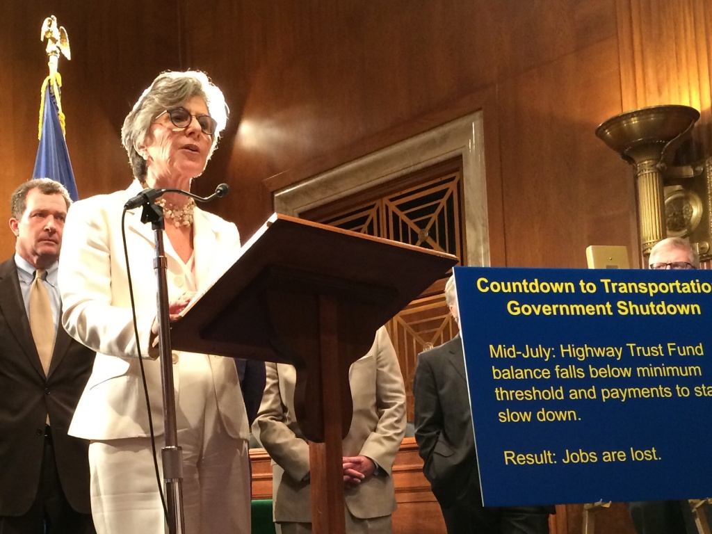 Senator Boxer warns that highway funding runs out this summer, urges colleagues to pass a temporary funding measure now and work on a long-range solution after the elections.
