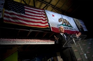 California Governor-elect Jerry Brown speaks during a news conference at his campaign headquarters on Nov. 3, 2010 in Oakland.