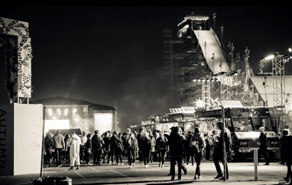 The stage and slope at Air+Style Los Angeles