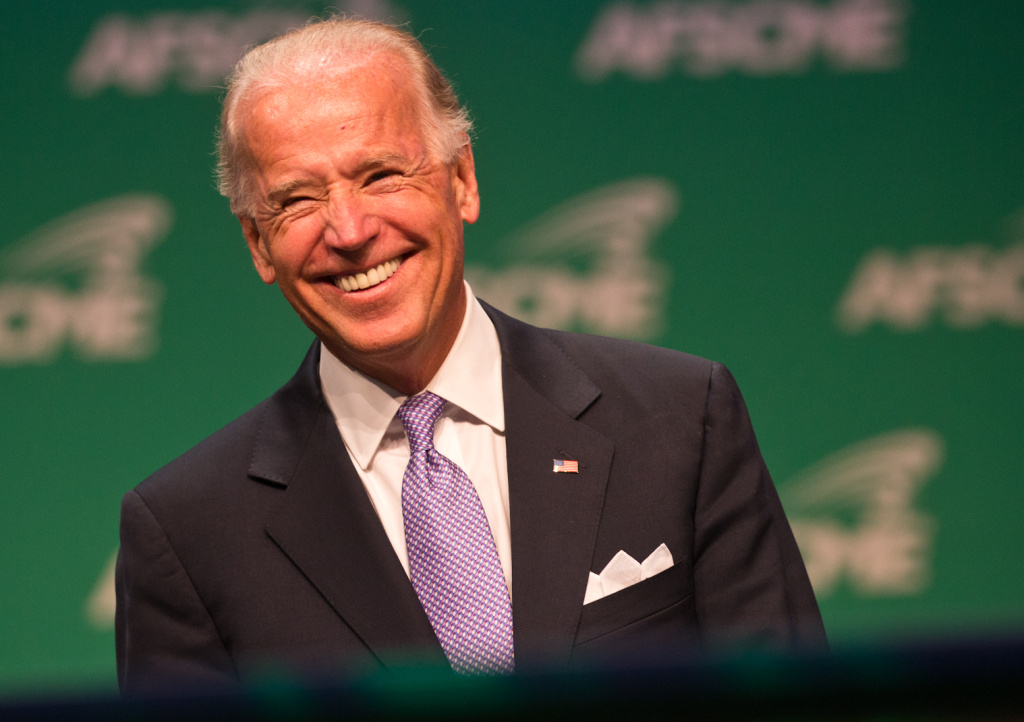 File: Vice President Joe Biden before speaking to members of the American Federation of State, County and Municipal Employees (AFSCME) at the Los Angeles Convention Center on June 19, 2012.