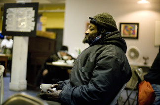 Charles Kelly, 60, who collect cans for a living, eats a meal at Broadway Community, Inc. prepared by the New York City Coalition Against Hunger during the 6th annual Martin Luther King, Jr. Anti-Hunger 'Serve-a-Thon' on January 19, 2009 In New York City.
