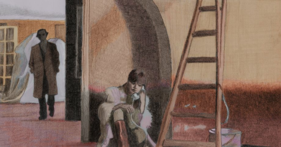 Illustration from a scene in the 1972 film, Last Tango in Paris