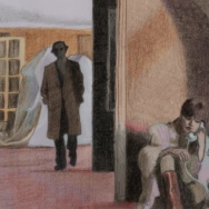 Illustration from a scene in the 1972 film, Last Tango in Paris