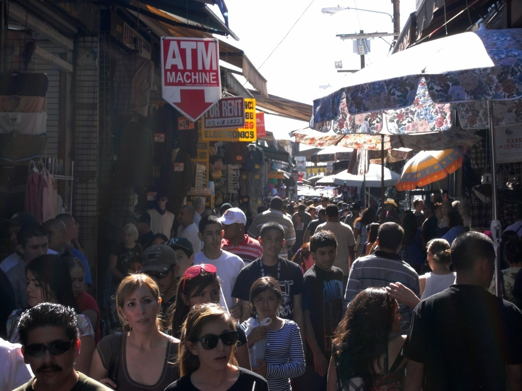 Santee Alley located in the heart of the Fashion District in downtown LA.