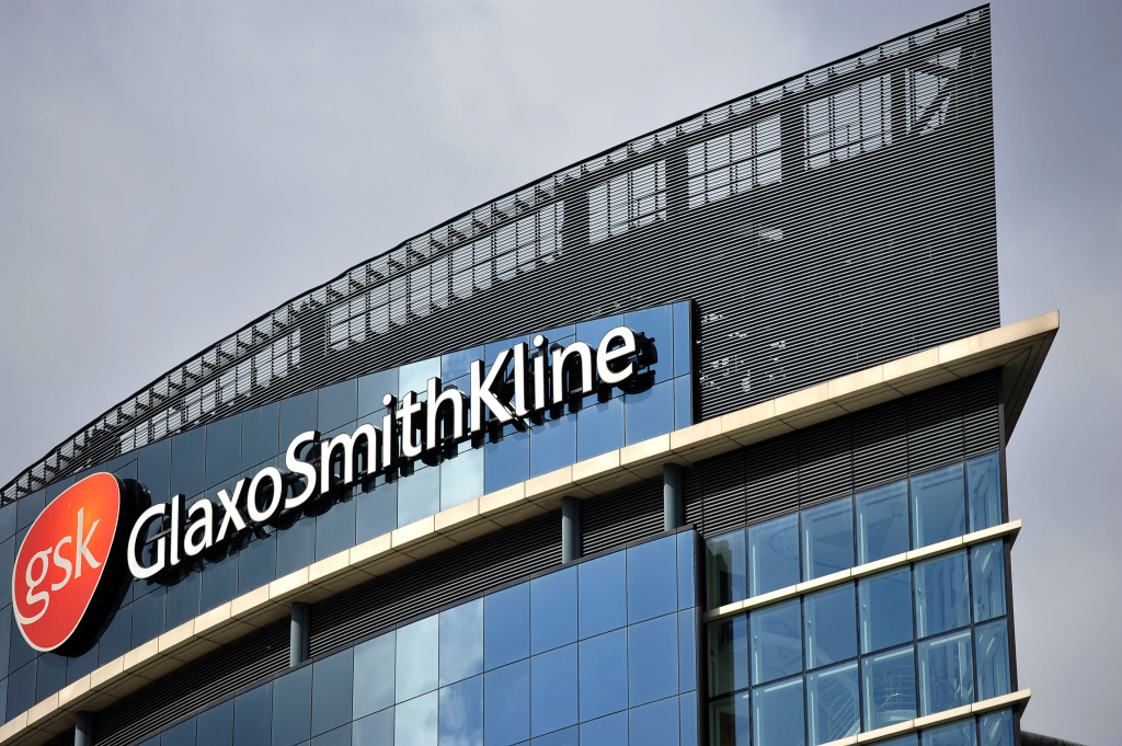 The headquarters of the British pharmaceutical company GlaxoSmithKline is pictured in west London on July 29, 2013.