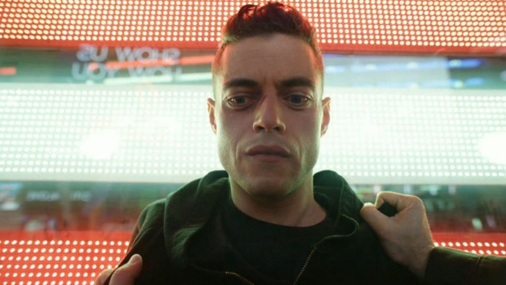 An image from the USA TV show Mr. Robot.