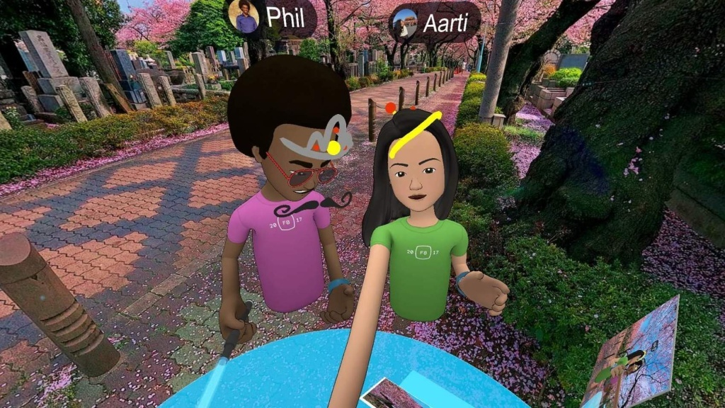 NPR reporter Aarti Shahani tested Facebook's new social VR platform. She requested an older avatar to represent her, but that was not available. Her guide