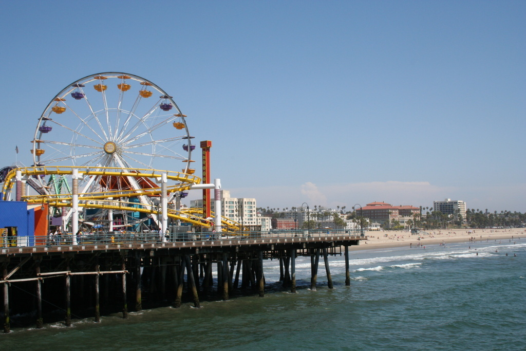 A summer day at Santa Monica Pier.
