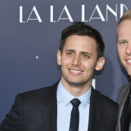 "Lyricists Benj Pasek and Justin Paul attend the premiere of Lionsgate's ""La La Land"" at Mann Village Theatre on December 6, 2016 in Westwood, California."