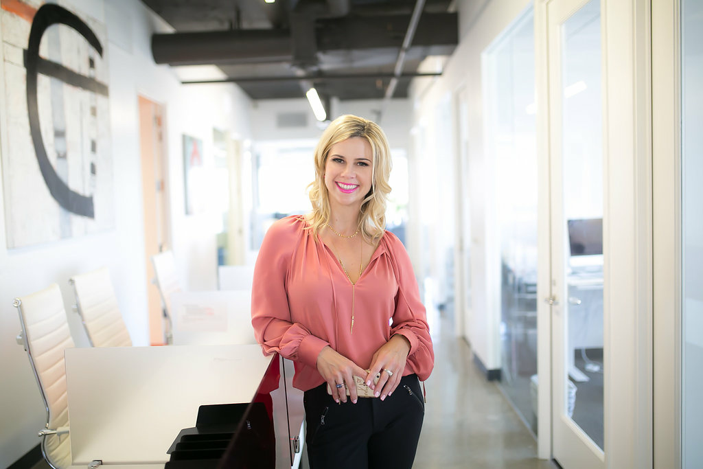 Keri White, a real estate agent at The Agency, says she prefers advertising on social media instead of traditional modes such as signs on bus benches or shopping carts.