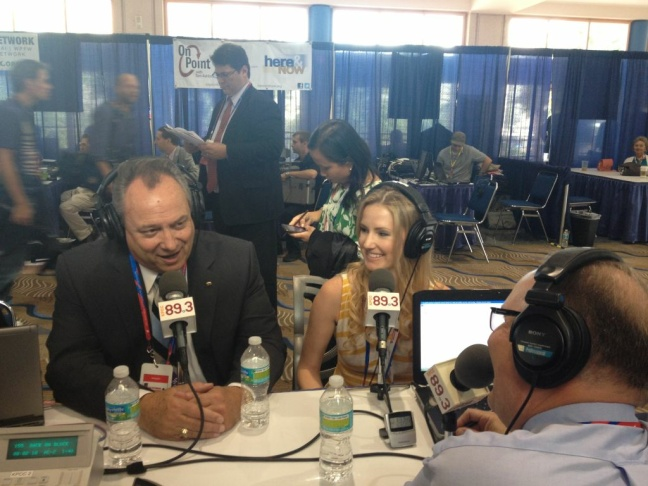 California delegates Bill Jones and Briana Bilbray sit down for an interview with Larry Mantle at the 2012 Republican National Convention.