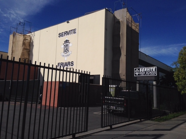 Servite High School in Anaheim. The all-boys Catholic school was hosting the