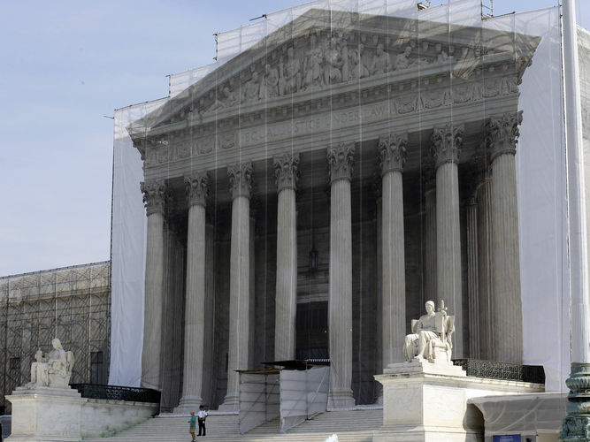 A view of the U.S. Supreme Court in Washington DC.
