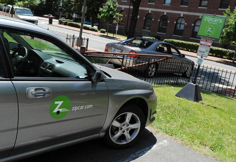 A Zipcar waits for a customer on May 29, 2008 in Washington, D.C.
