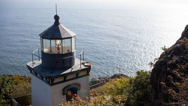 The Trinidad Head lighthouse in Trinidad, California.