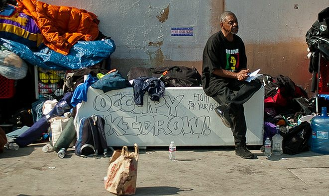 A new report from the Department of Public Health recommends weekly power-washes for the Skid Row area, which is now covered in human feces, urine and hypodermic needles.
