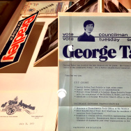 "Ephemera from George Takei's political career at the Japanese American National Museum's exhibit ""New Frontiers: The Many Worlds of George Takei."" George ran for LA City Council in 1973."