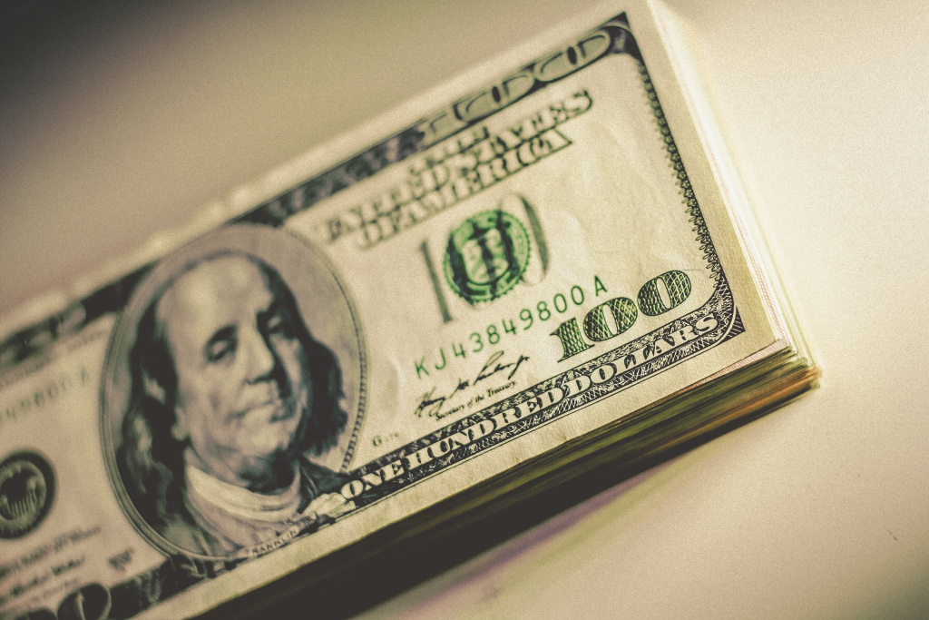 100 Dollar Bill Stack money fraud