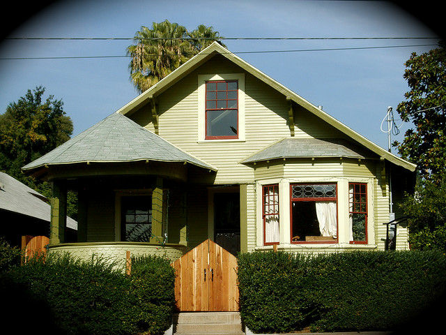 House overlooking the Garvanza Park in Highland Park, California.