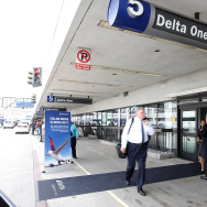 A general view of the outside of Delta One as Delta Air Lines Unveils $229-Million Dollar Enhancement Of LAX Terminal 5 at LAX Airport on June 10, 2015 in Los Angeles, California.