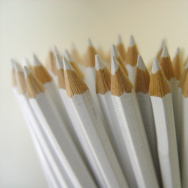 white pencils school supplies