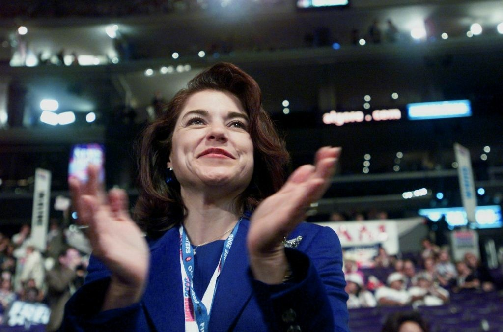File: Rep. Loretta Sanchez applauds during the opening session of the Democratic National Convention on Aug. 4, 2000 at the Staples Center.