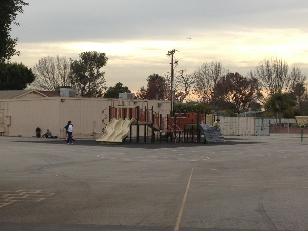The playground at Loyola Village Elementary School.