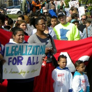 At a May Day immigrant rights rally in Minneapolis, May 1, 2012