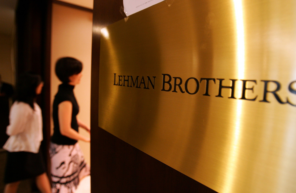 Lehman Brothers reportedly paid executives $700 million shortly before the company went under in 2008. (Photo by Chung Sung-Jun/Getty Images)
