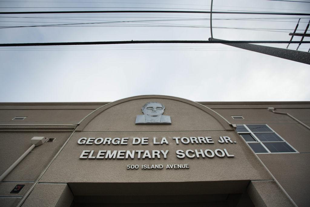 George De La Torre Elementary School in Wilmington near the the Long Beach harbor.