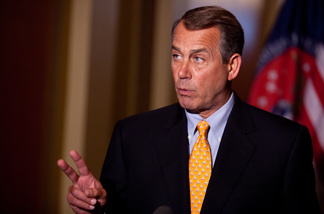 File photo: Speaker of the House John Boehner (R-OH) holds a news conference in the U.S. Capitol on April 1, 2011 in Washington, DC.