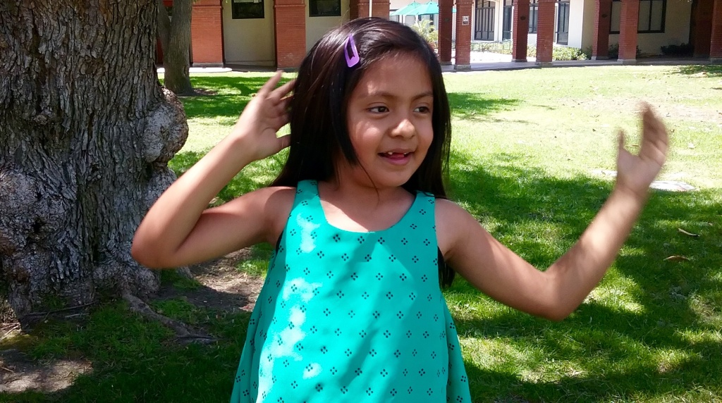 Imelda Centeno, 8, began attending the USC Come Read with Me summer program for English learners who are deaf or hard of hearing three years ago.